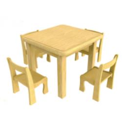 Стол детский квадратный (4 места)