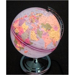 Глобус физический Земли (с подсветкой)
