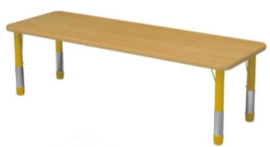 Стол детский прямоугольный регулируемый(8 мест)
