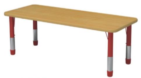 Стол детский прямоугольный регулируемый(6 мест)