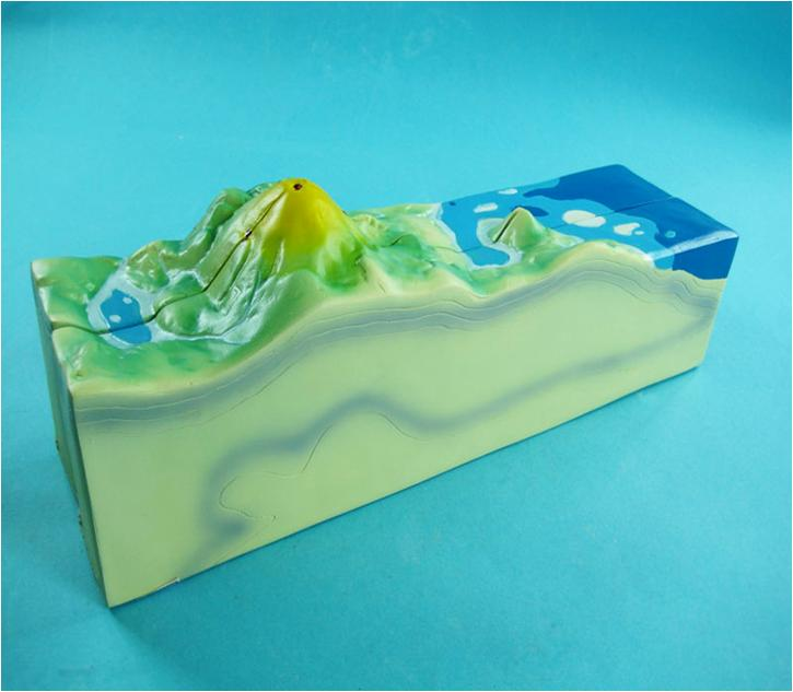 Модель вулкана разборная