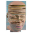 Модель горизонтальных срезов головы и шеи человека (17 частей)